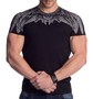 Herren Print T-Shirt Eagle Wings H1341
