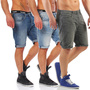 JACK & JONES HERREN JEANS SHORTS RICK