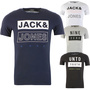JACK & JONES CORE BOXERTON T-SHIRT, IM PRINT-LOOK, 4 VERSCHIEDENE VARIATIONEN