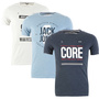 JACK & JONES CORE SCONE T-SHIRT, IM PRINT-LOOK, 3 VERSCHIEDENE VARIATIONEN, NEU