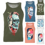 JACK AND JONES HERREN TANKTOP JORNINETY SOMMER SHIRT 100% BAUMWOLLE S,M,L,XL,XXL