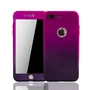 Apple iPhone 7 Handy-Hülle Schutz-Case Cover Panzer Schutz Glas Pink / Violett