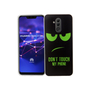 Huawei Mate 20 Lite Handy-Hülle Schutz-Case Cover Bumper Dont Touch My Phone Grün