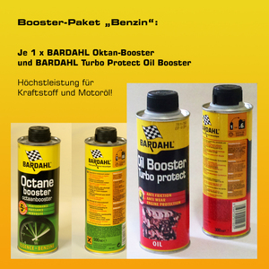 Booster-Paket Benzin: 1 x BARDAHL Oktan-Booster + 1 x BARDAHL Turbo Protect Oil Booster
