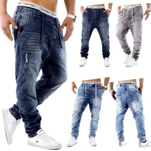 Urban Surface Herren Jogging Denim Haremshose Baggy Pants