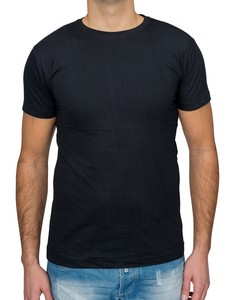 Herren T Shirt Basic O-Neck Einfarbig Uni V-Neck H1530