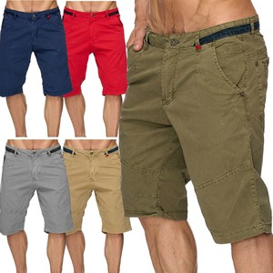 Max Men Herren Bermuda Shorts Capri 3/4 Hose Stretch