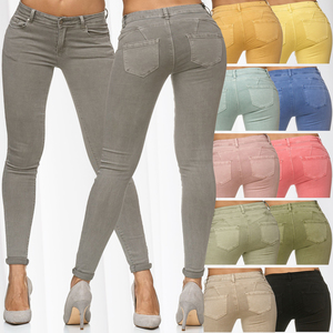 Damen Treggings Push Up Jeans Effekt Hose Skinny Simply Chic Chino Jeggings