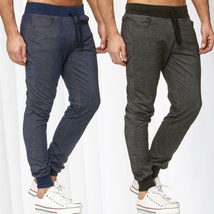 Herren Jogging Hose Slim Fit Jeans Optik Sport Sweat Pants