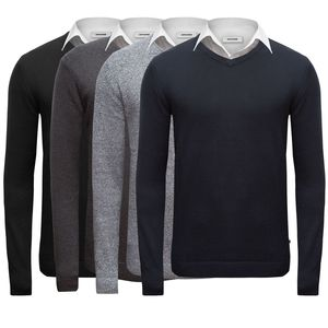 JACK & JONES JJEBASIC KNIT V NECK NOOS