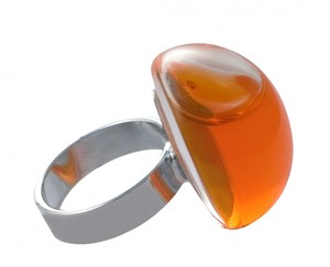 Pylones Ring - Dome klar, orange