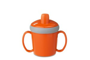 Rosti Mepal Trinklernbecher Antitropf - orange. 200 ml