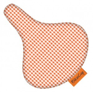 BikeCap Sattelschoner - Orange Checkmate