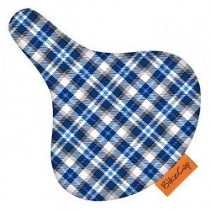 BikeCap Sattelschoner - Blue plaid