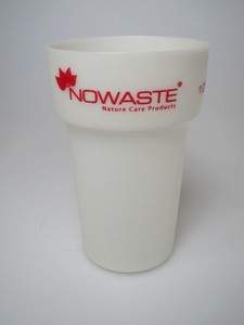 Nowaste Trinkbecher Tree Cup 300 ml - weiß-transparent