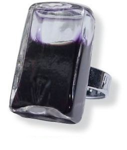 Pylones Ring - Rectangle Milk, schwarz
