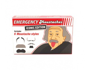Notfall Promi-Schnurrbart-Set Emergency Moustaches Iconic Edition, 6-teilig