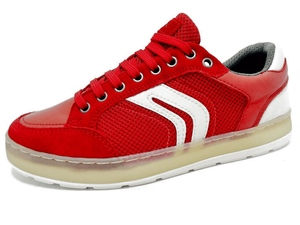 Geox Respira Herren U Ariam A Low Top Sneaker Halbschuhe U925AQ Red Rot