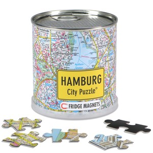 City Puzzle Magnets - Hamburg von Extragoods