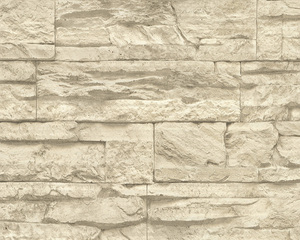 AS Creation 707130 Tapete Wood'n Stone Beige, Creme