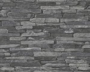 AS Creation 914224 Tapete Wood'n Stone Grau, Schwarz