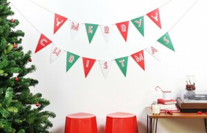 DOIY DESIGN Party Flags X-MAS, 15m, 20x12cm