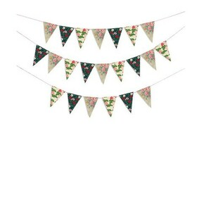 DOIY DESIGN Party Flags FLORAL, 15m, 20x12cm