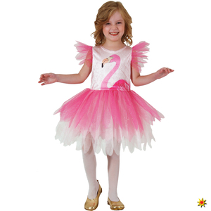 Kinder Kostüm Flamingo Rosalie, Kleid