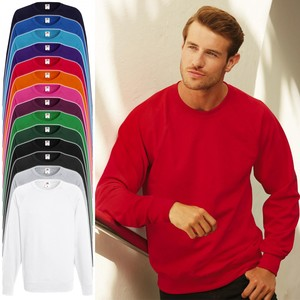 Fruit of the Loom: Herren lightweight Raglan Sweater, Pullover * 62-138-0 * NEU