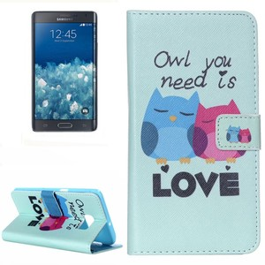 Handyhülle Tasche für Handy Samsung Galaxy Note 5 Edge OWL you need is Love