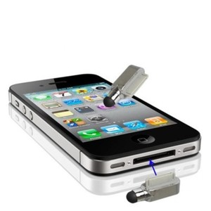 Eingabestift Touch Pen für Handy Apple iPhone 4 & 4S Silber