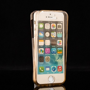 Crystal Case Hülle für Apple iPhone 5 / 5s / SE Gold Rahmen Full Body