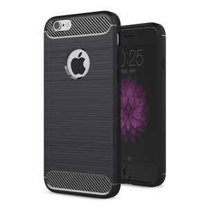 Apple iPhone 6 / 6s Cover TPU Case Silikon Schutz-Hülle Handy Bumper Carbon Optik Schwarz