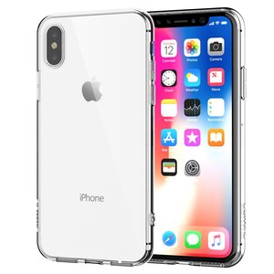 Apple iPhone XS Transparent Case Hülle Silikon