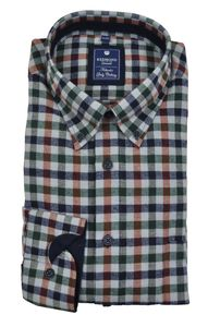 Redmond - Regular Fit - Herren Flanell Hemd kariert mit Button-Down Kragen (82280111)