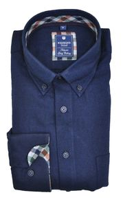 Redmond - Regular Fit - Herren Flanell Hemd mit Button-Down Kragen (82290111)