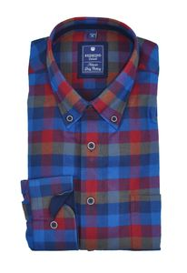 Redmond - Regular Fit - Herren Flanell Hemd kariert mit Button-Down Kragen (82475111)
