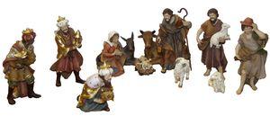 Krippenfiguren-Set aus Keramik Krippe Weihnachten Dekoration 6307 12-tlg