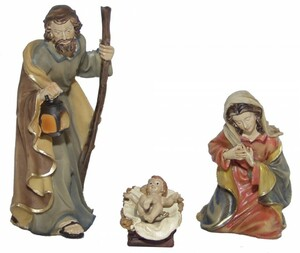 Krippenfiguren 3-tlg. Set Polyresin Krippe Figuren PARADIES 11 cm 3er Set