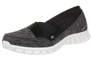 Skechers EZ Flex 2 Fascination Damen Sommerschuhe Slip On Slipper BKW Ballerinas