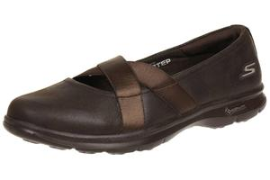 Skechers GO STEP - DAINTY Damen Sommerschuhe Slip On Slipper CHOC Ballerinas