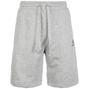 Converse Star Chevron EMB Short FT Black Herren Jogginghose Sweat Shorts grau