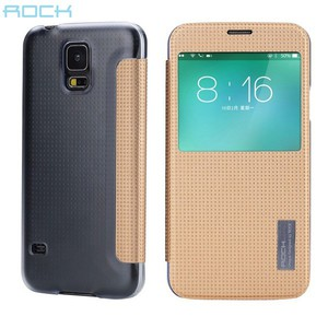 Original ROCK Smartcover Gold für Samsung Galaxy S5