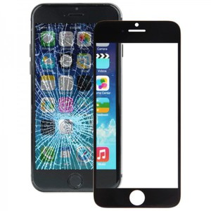 Displayglas Glas Schwarz für Apple iPhone 6 Plus 5.5