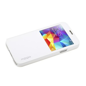 Original ROCK Window Smartcover Weiss für Samsung Galaxy S5 G900 G900F
