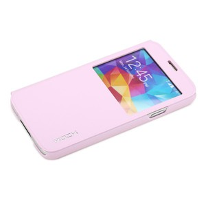 Original ROCK Window Smartcover Rosa für Samsung Galaxy S5 G900 G900F