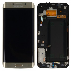 Display LCD Komplettset Touchscreen Gold für Samsung Galaxy S6 Edge G925 G925F