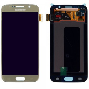Display LCD Komplettset GH97-17260C Touchscreen Gold für Samsung Galaxy S6 G920 G920F