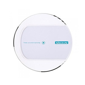 Universal Induktive Ladestation zum kabellosen Laden Qi NFC Wireless Charger Runde Dock Weiss