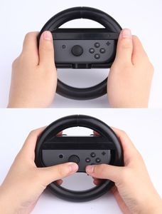 Für Nintendo Switch Joy-Con Controller Round Gaming Steering Wheel Schwarz Game